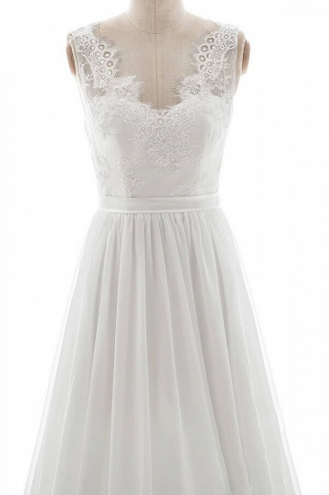 BMbridal Affordable V-neck Lace Chiffon A-line Wedding Dress On Sale_4