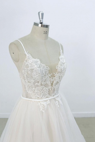BMbridal Eye-catching Appliques Tulle A-line Wedding Dress On Sale_6