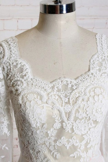 BMbridal Appliques Long Sleeve Chiffon A-line Wedding Dress On Sale_4