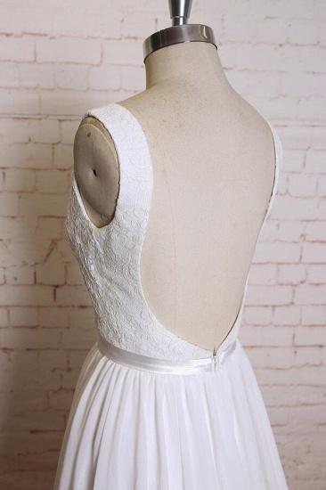 BMbridal Square Neck Lace Chiffon A-line Wedding Dress On Sale_5