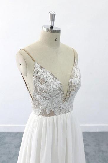 BMbridal Graceful V-neck Lace Chiffon A-line Wedding Dress On Sale_6