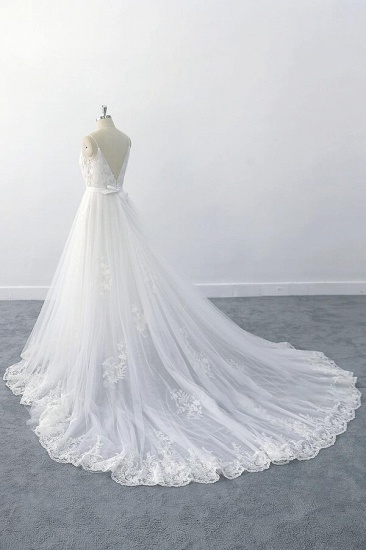 BMbridal Amazing Ruffle Appliques Tulle A-line Wedding Dress On Sale_4