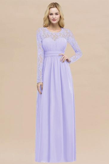 Elegant Lace Burgundy Bridesmaid Dresses Online with Long Sleeves_21