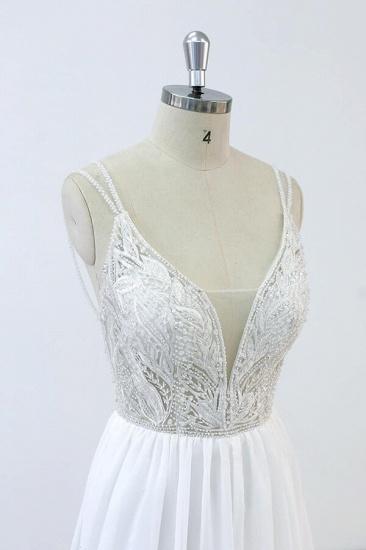 BMbridal Elegant Beading Chiffon A-line Wedding Dress On Sale_4