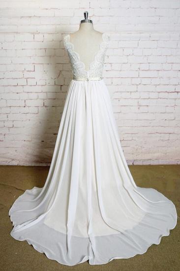 BMbridal Latest V-neck Lace Chiffon A-line Wedding Dress On Sale_3
