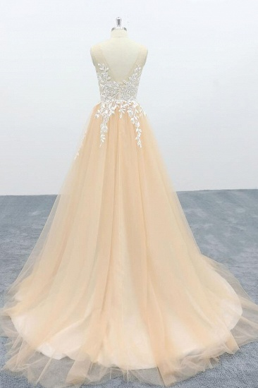 BMbridal Graceful Appliques Tulle A-line Wedding Dress On Sale_3