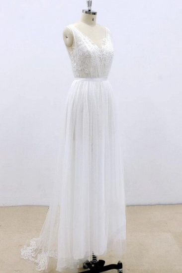 BMbridal Amazing Ruffle Tulle Appliques A-line Wedding Dress On Sale_6