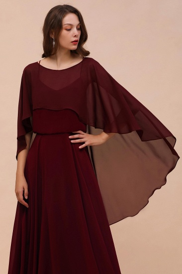 Burgundy Chiffon Special Occasions Wrap_7