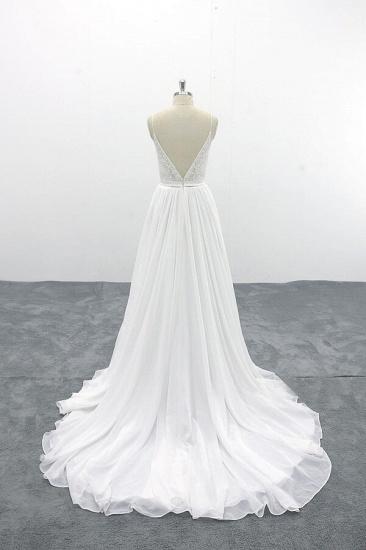 BMbridal Spaghetti Strap Lace Chiffon A-line Wedding Dress On Sale_3