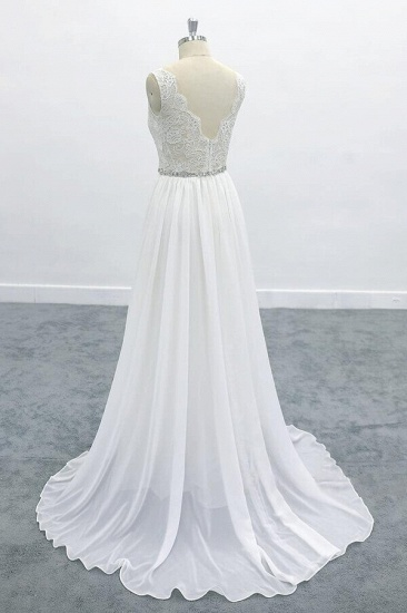 BMbridal Awesome V-neck A-line Lace Chiffon Wedding Dress On Sale_5