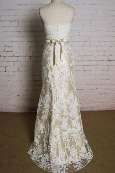 BMbridal Strapless Appliques Tulle A-line Wedding Dress On Sale_3
