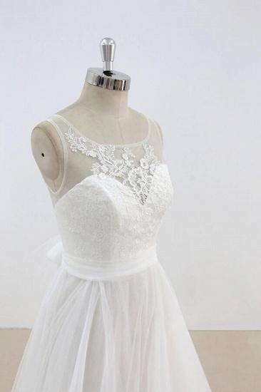 BMbridal Graceful Illusion Lace Tulle A-line Wedding Dress On Sale_5