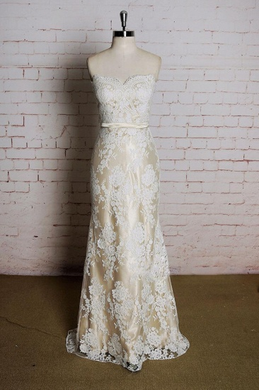 BMbridal Strapless Appliques Tulle A-line Wedding Dress On Sale_1