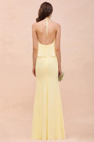 BMbridal Gorgeous Daffodil Mermaid Halter Ruffle Bridesmaid Dress_3
