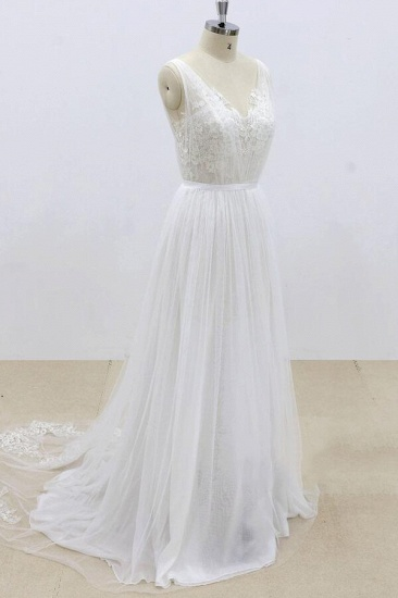 BMbridal Amazing Ruffle Tulle Appliques A-line Wedding Dress On Sale_4