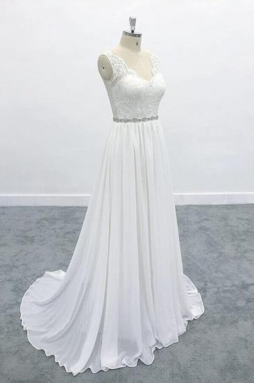 BMbridal Awesome V-neck A-line Lace Chiffon Wedding Dress On Sale_4