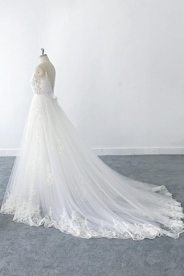 BMbridal Amazing Ruffle Appliques Tulle A-line Wedding Dress On Sale_6