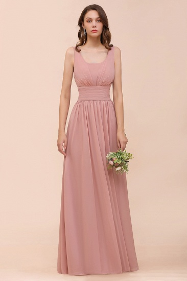 Affordable Sleeveless Ruffle Vintage Mauve Bridesmaid Dress_6