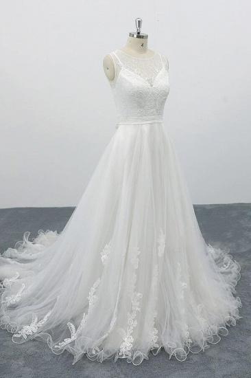 BMbridal Graceful Appliques Tulle A-line Wedding Dress On Sale_4