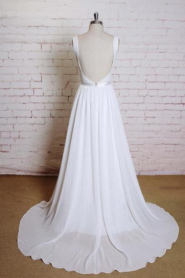 BMbridal Square Neck Lace Chiffon A-line Wedding Dress On Sale_3