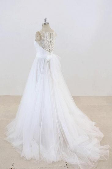 BMbridal Graceful Illusion Lace Tulle A-line Wedding Dress On Sale_4