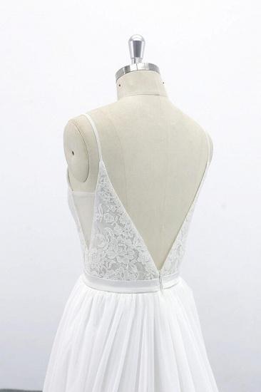BMbridal Spaghetti Strap Lace Chiffon A-line Wedding Dress On Sale_7