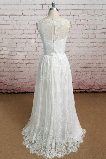BMbridal Graceful Illusion Lace A-line Wedding Dress On Sale_3