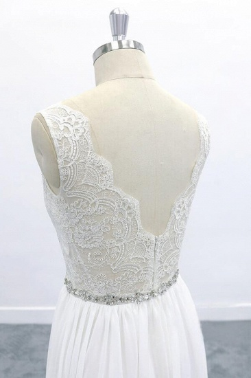 BMbridal Awesome V-neck A-line Lace Chiffon Wedding Dress On Sale_7