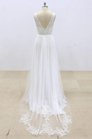 BMbridal Amazing Ruffle Tulle Appliques A-line Wedding Dress On Sale_3