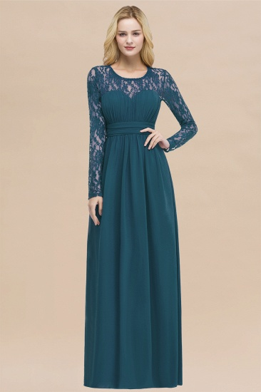 BMbridal Elegant Lace Burgundy Bridesmaid Dresses Online with Long Sleeves_27