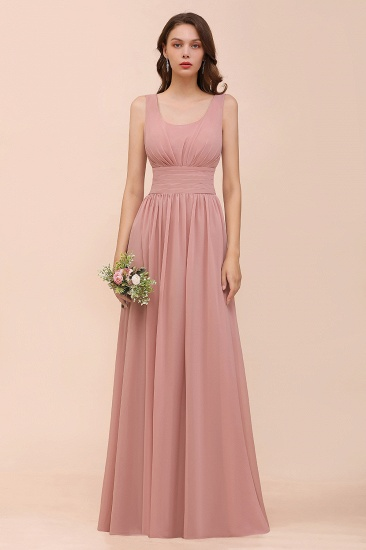 Affordable Sleeveless Ruffle Vintage Mauve Bridesmaid Dress_1