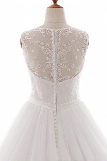 BMbridal Eye-catching V-neck Tulle A-line Wedding Dress On Sale_6