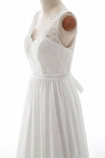 BMbridal Affordable V-neck Lace Chiffon A-line Wedding Dress On Sale_5