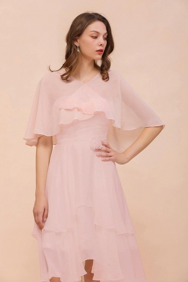 Pink Chiffon Ruffle Special Occasions Wraps