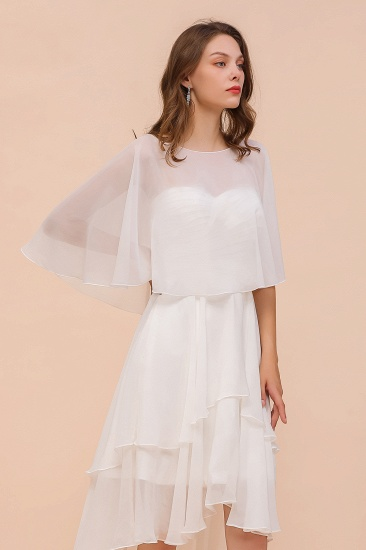 White Chiffon Jewel Special Occasions Wraps_1