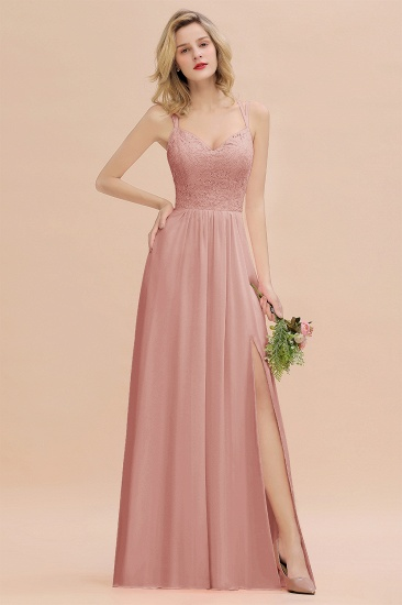 BMbridal Sexy Spaghetti-Straps Coral Lace Bridesmaid Dresses with Slit_50
