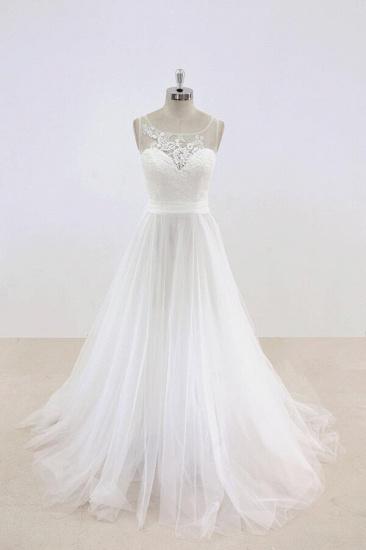BMbridal Graceful Illusion Lace Tulle A-line Wedding Dress On Sale_1