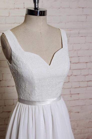 BMbridal Square Neck Lace Chiffon A-line Wedding Dress On Sale_4