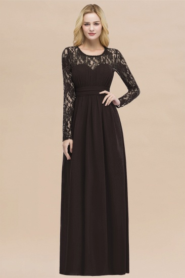 BMbridal Elegant Lace Burgundy Bridesmaid Dresses Online with Long Sleeves_11