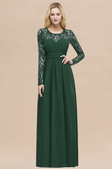 BMbridal Elegant Lace Burgundy Bridesmaid Dresses Online with Long Sleeves_31