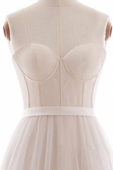 BMbridal Graceful V-neck Lace Tulle A-line Wedding Dress On Sale_5