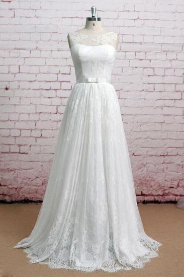 BMbridal Graceful Illusion Lace A-line Wedding Dress On Sale_1