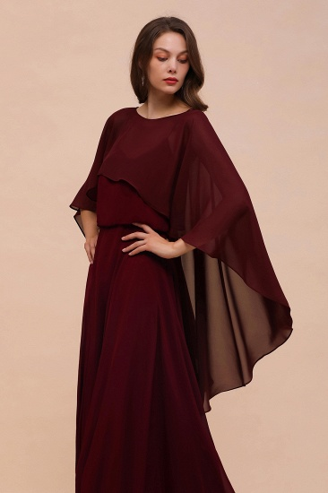Burgundy Chiffon Special Occasions Wrap_5