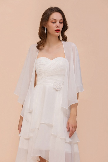 White Chiffon Special Occasions Wraps_4