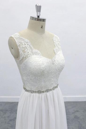 BMbridal Awesome V-neck A-line Lace Chiffon Wedding Dress On Sale_6