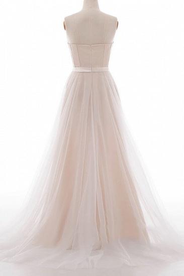 BMbridal Graceful V-neck Lace Tulle A-line Wedding Dress On Sale_4