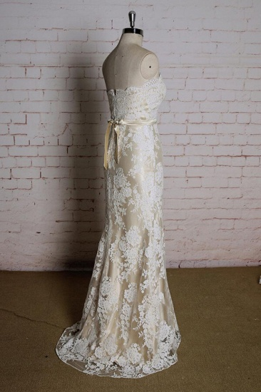 BMbridal Strapless Appliques Tulle A-line Wedding Dress On Sale_4
