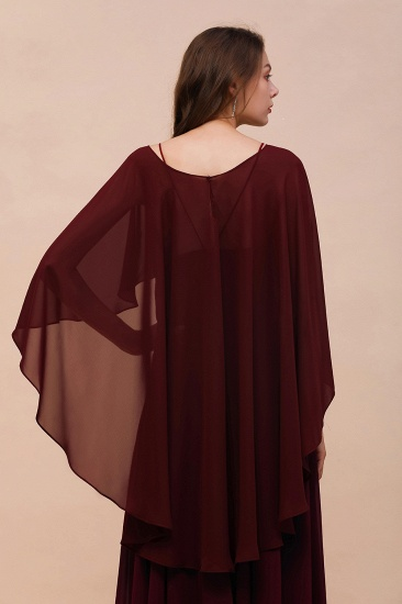 Burgundy Chiffon Special Occasions Wrap_3