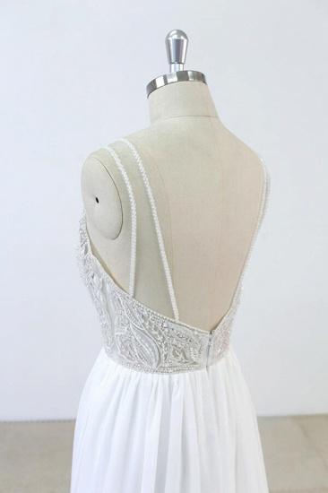 BMbridal Elegant Beading Chiffon A-line Wedding Dress On Sale_5