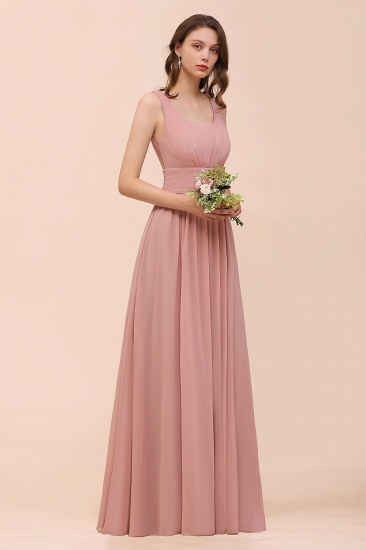 Affordable Sleeveless Ruffle Vintage Mauve Bridesmaid Dress_8